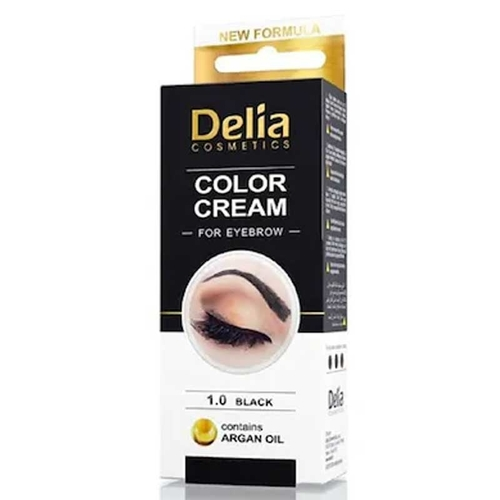 Delia Cream For Eyebrows 1.0 Black With Argan Oil