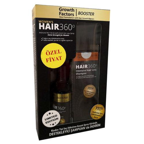 Hair 360 Women s GF Booster Kadın Tipi Saç Dökülmesine Karşı SET